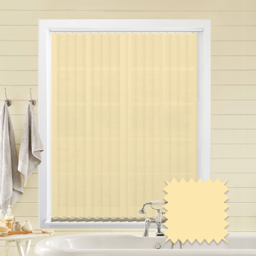 Ivory Made to measure vertical blinds in Carnival Ivory plain FR / Antibacterial fabric